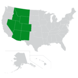 Map of the Central Mountain region of the U.S.